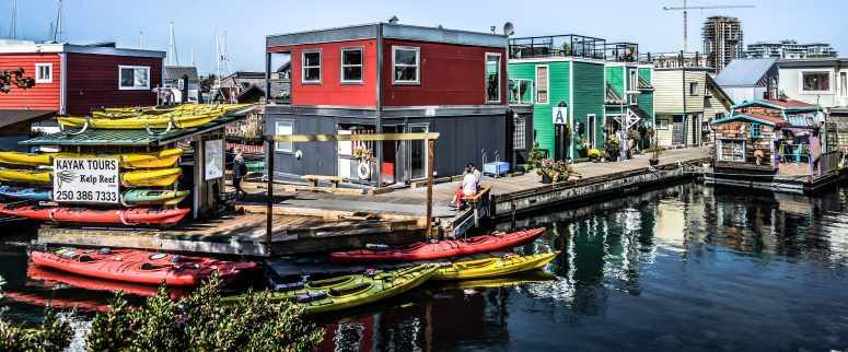 House Boats on Fisherman's Wharf - Victoria BC Canada